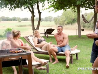 PRIVATE – 3 German MILFs Share 2 Hard Cocks!